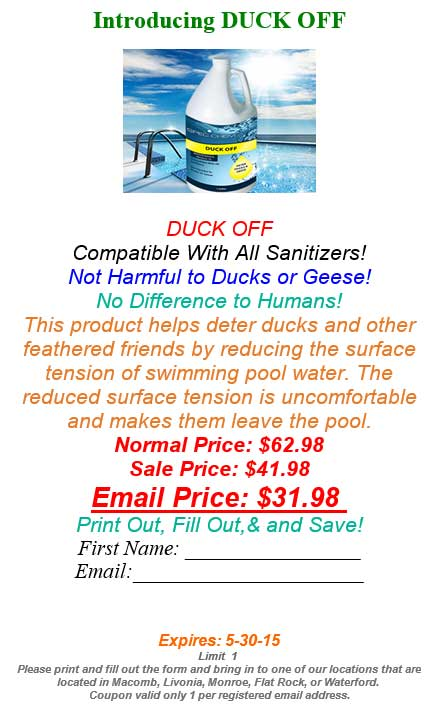 Non Harmful Pool Chemicals For Humans Or Animals