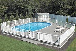 Semi Inground Swimming Pool