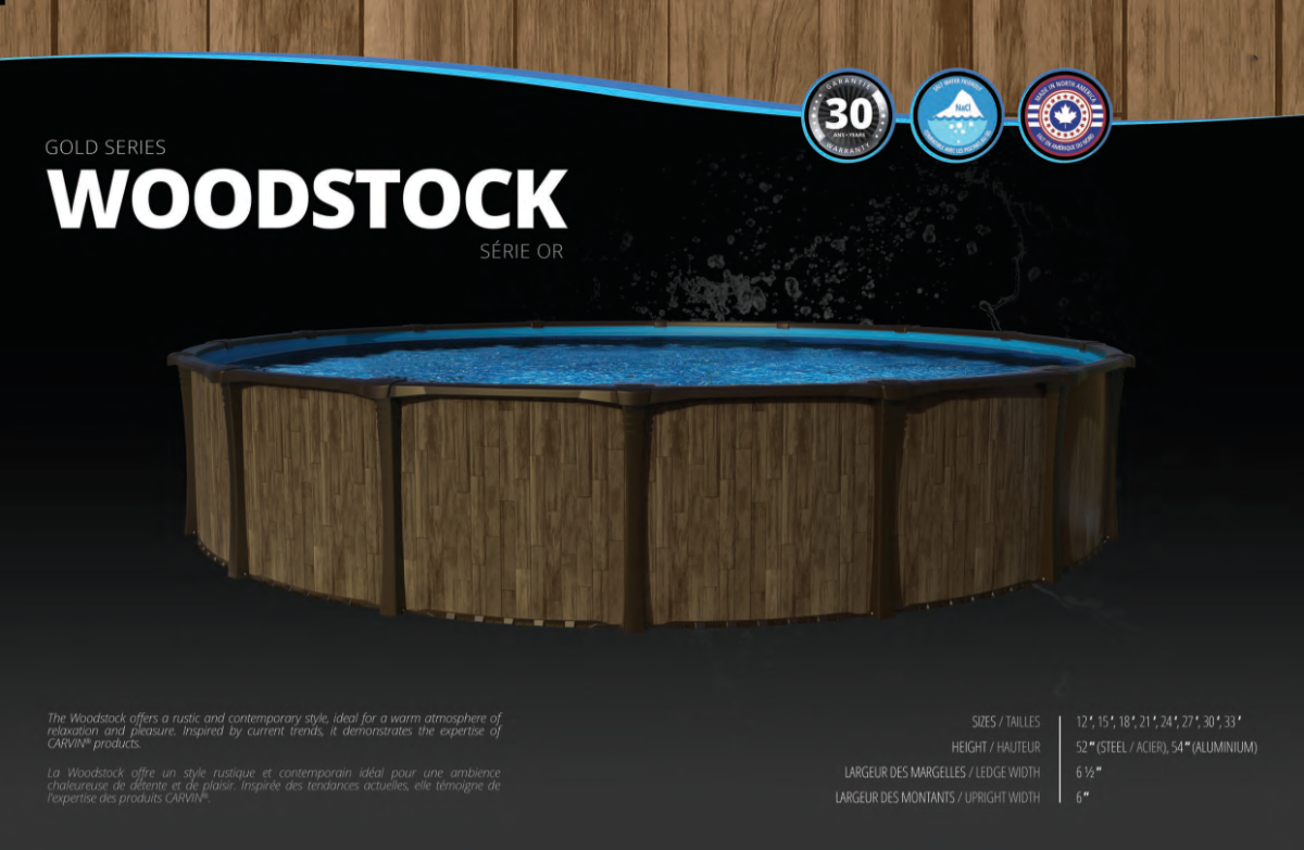Carvin Gold Series Woodstock Swimming Pool