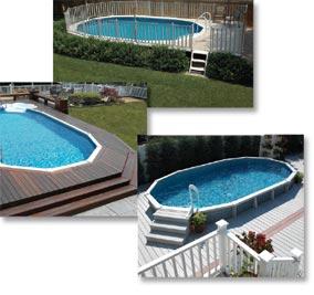 Semi Inground Swimming pools