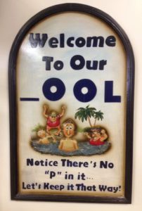 Pool and other fun signs!
