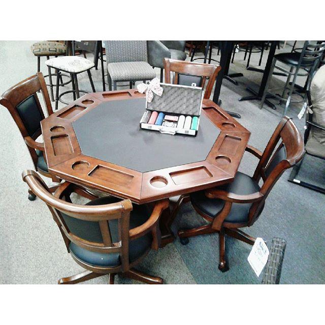 Gameroom poker tables at Sunnys Pools