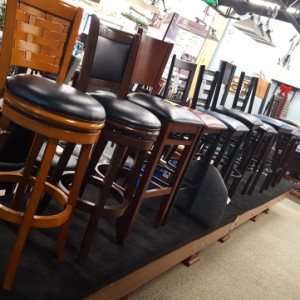 High back counter stools