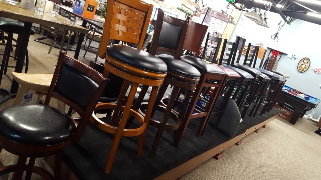 High back stools for counters at our Waterford MI location