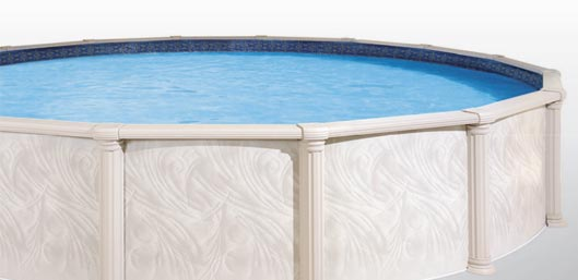 Premier Aluminum Above Ground Pool Model- Classic Coliseum Round