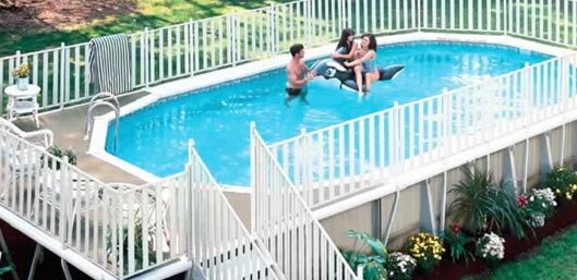 Premier Aluminum Above Ground Swimming Pool Model- Monument
