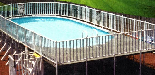 Fenced Oval Pools With End Decks